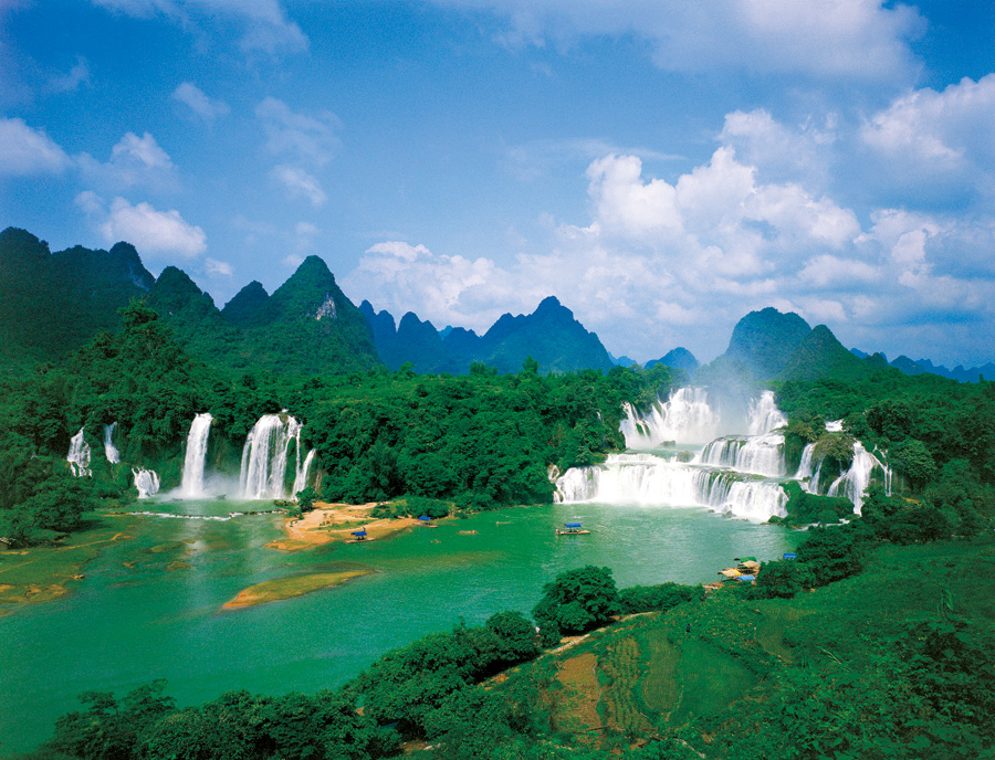 Guangxi Dtian waterfull Photo